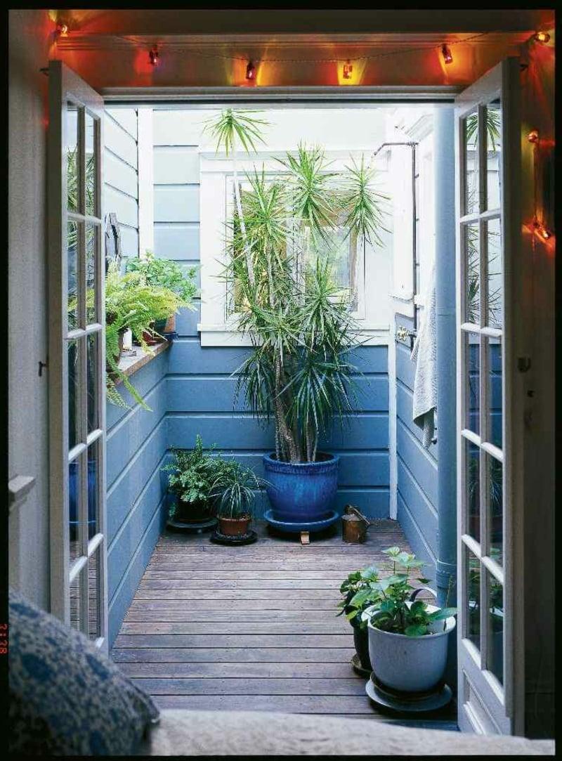 Außendusche modern Pflanzen Gartendusche selber bauen