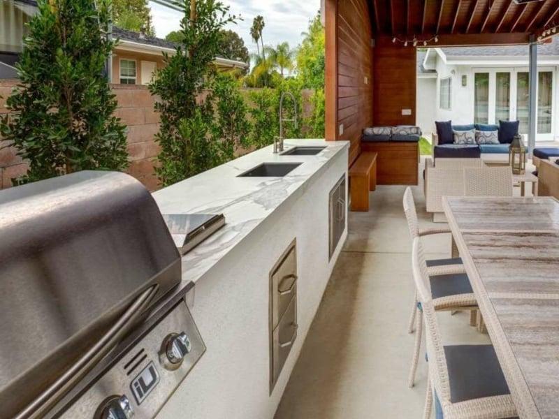 Außenküche einrichten tolle Designideen