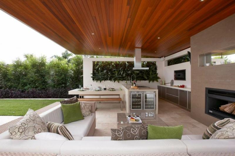 Außenbereich Küche Sitzecke modern