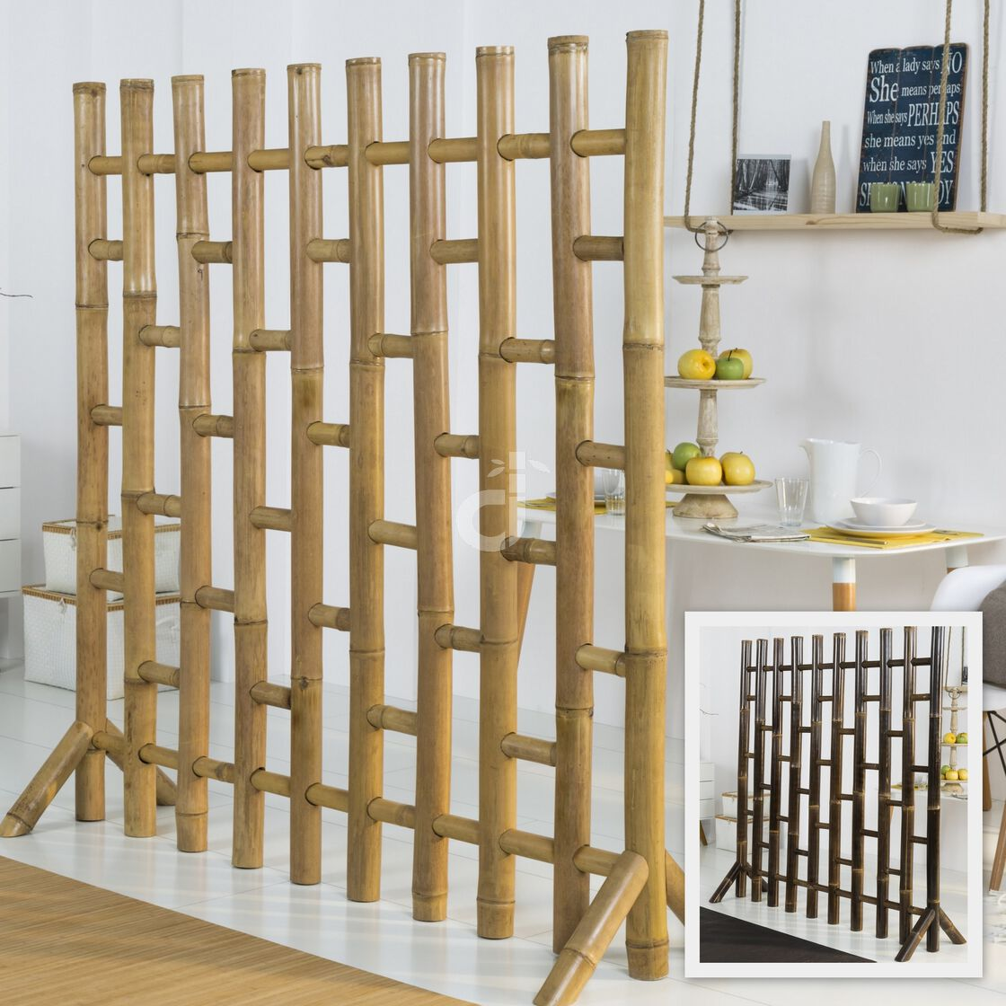 Raumteiler Ideen Bambus Paravent