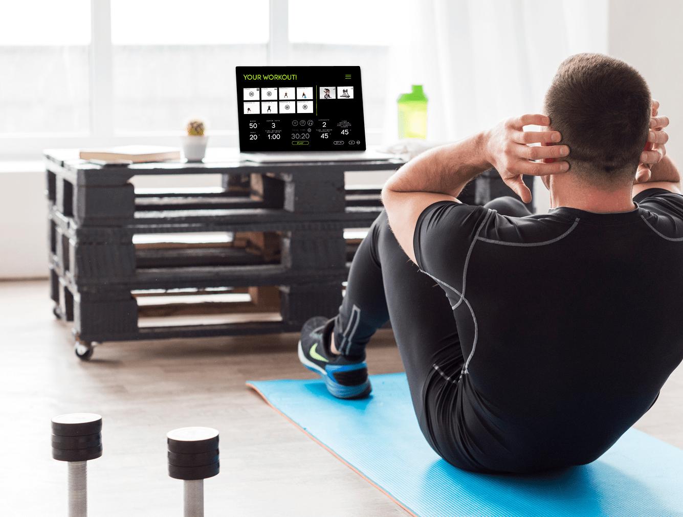 Bauchübungen machen Zuhause