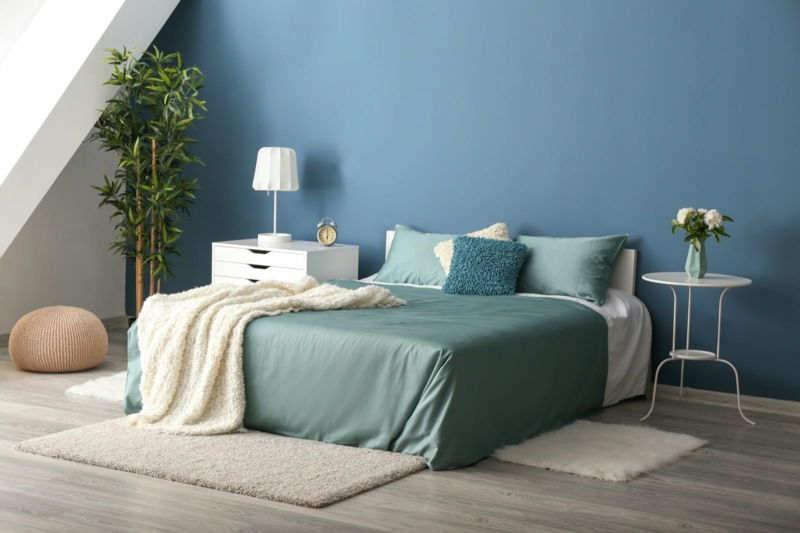 Raumgestaltung mit Farben Blau beruhigend