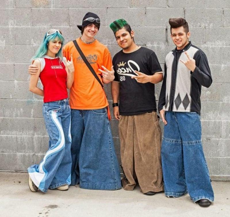 Retro-Kleidung breite Jeans