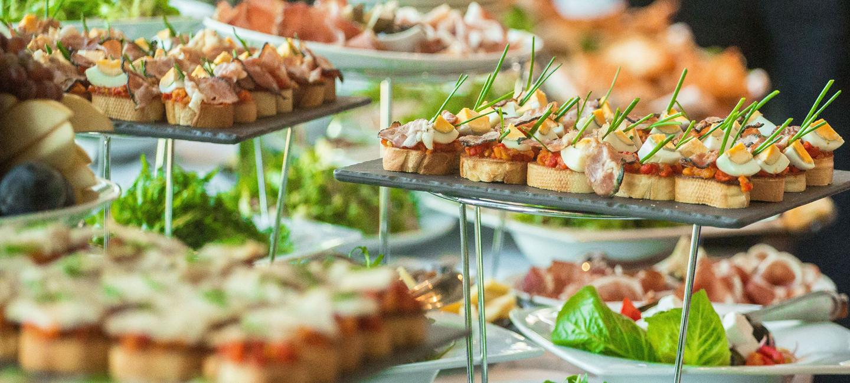 Hochzeit Buffet Ideen vielfältige Häppchen
