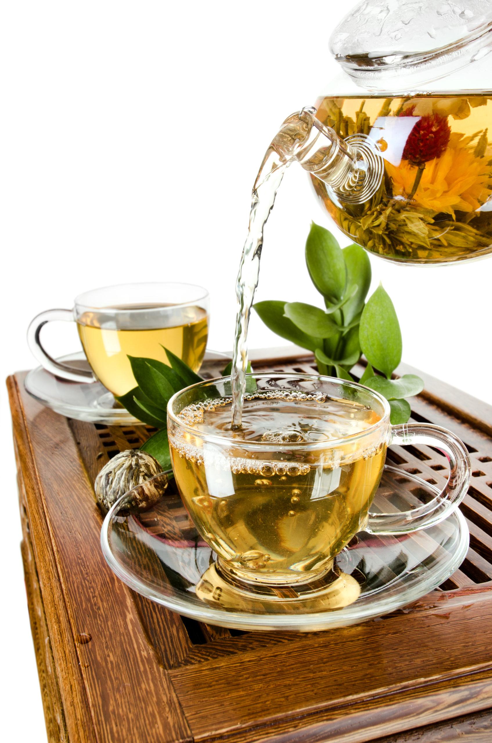 Durch den Tag mit grünem Tee
