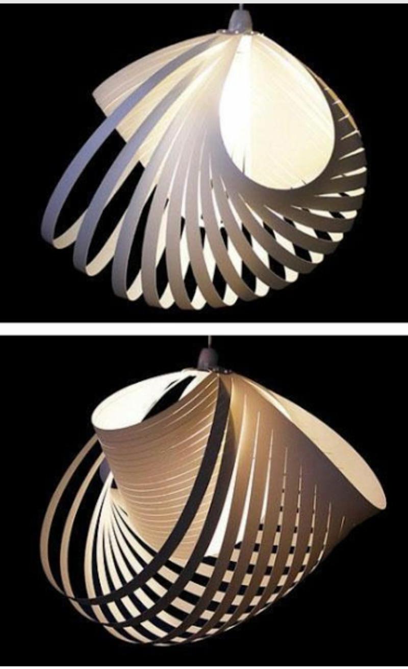 Designer Papierleuchte wunderschön