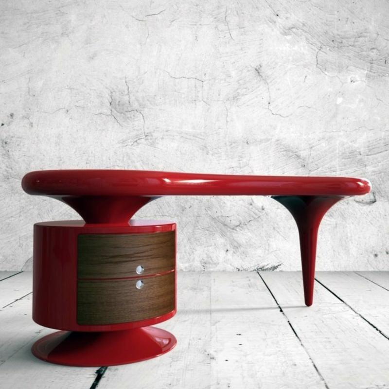 Arbeitszimmer Einrichtung Designer-Schreibtisch