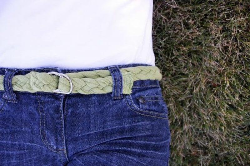 Upcycling Kleidung Gürtel selber machen