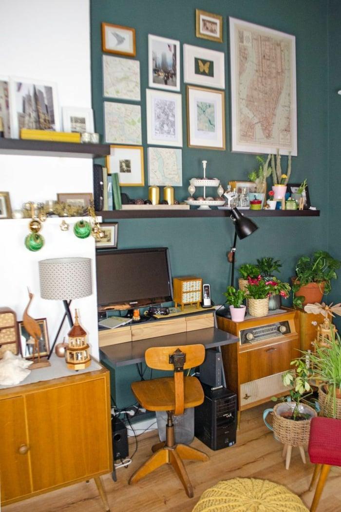 eklektischer Einrichtungsstil Arbeitszimmer