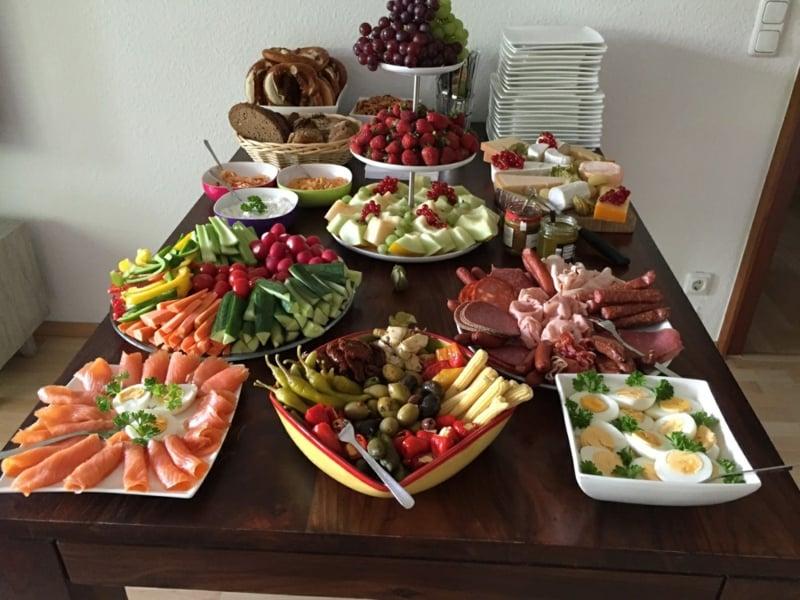 Hochzeit Buffet Ideen lecker und gesund