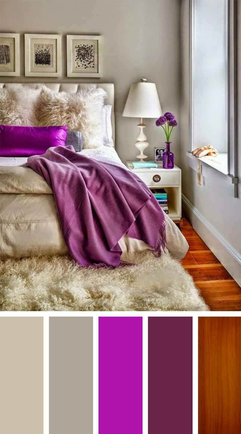 Farbpalette Schlafzimmer Violett