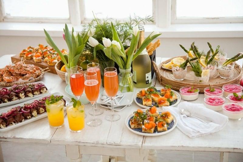 elegantes Hochzeitsbuffet