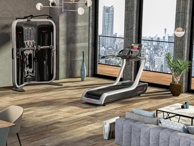 Fitnessraum Zuhause einrichten modern Laufbahn