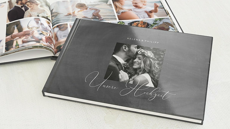 Fotobuch Hochzeit gestalten romantisch