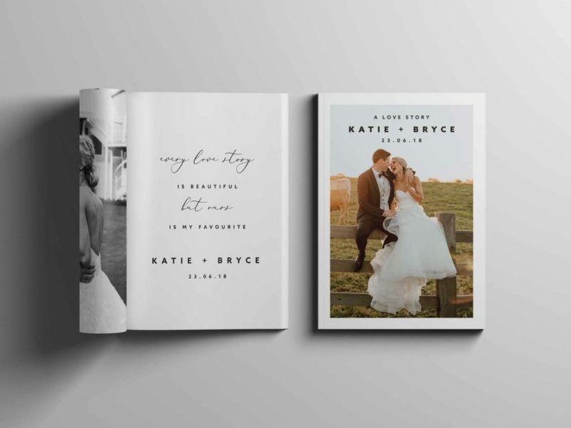 Fotobuch Hochzeit romantisches Design