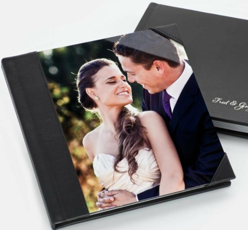 Fotobuch Hochzeit Einband Leder