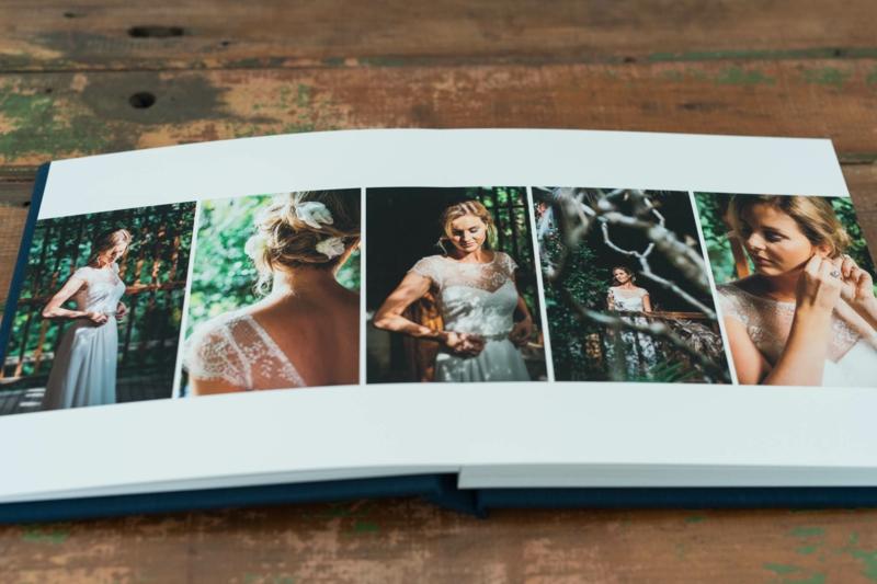 Fotos anordnen Hochzeit Album