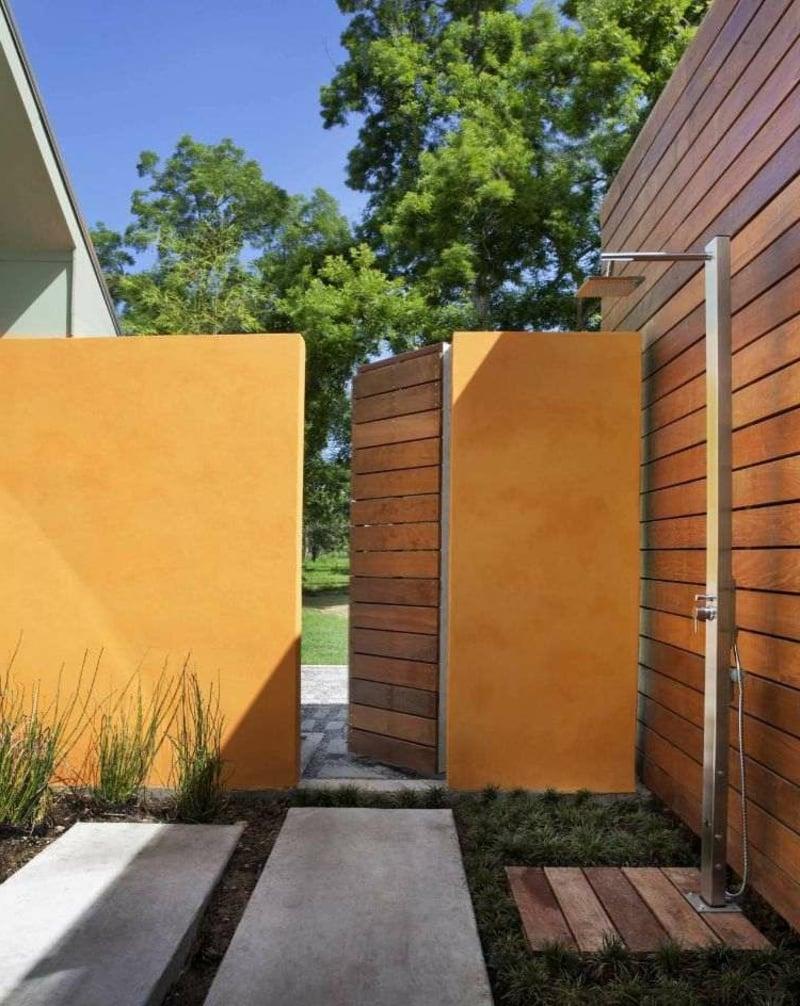 Dusche im Garten bauen Schritt für Schritt