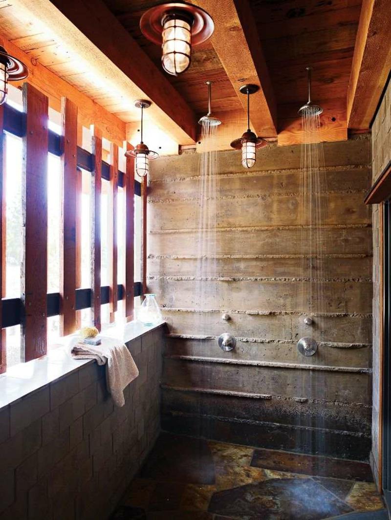 Dusche Außenbereich Sichtschutzwände