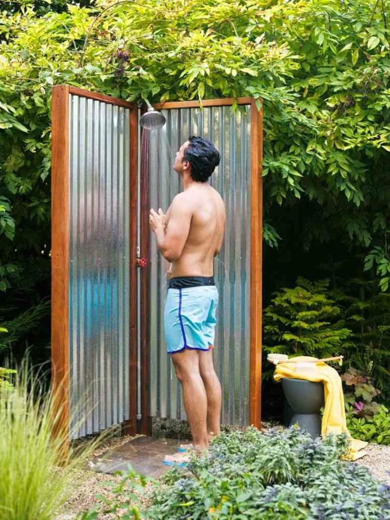 Gartendusche Paravent Sichtschutz