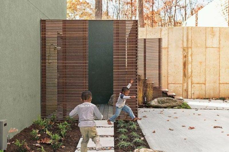 Gartendusche mobile Wände Sichtschutz