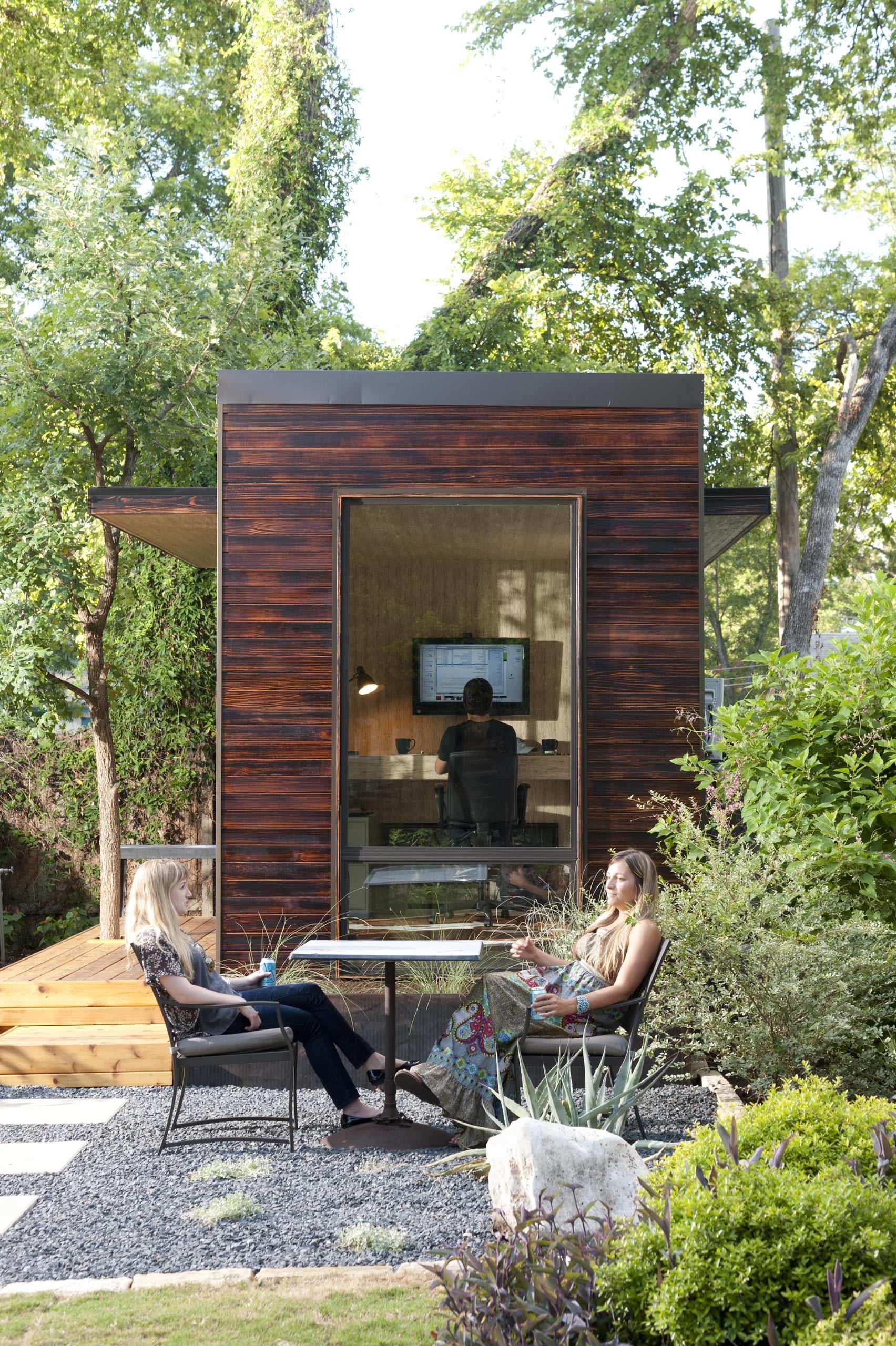Home Office im Grünen - das Gartenhaus bietet den perfekten Ort dafür!