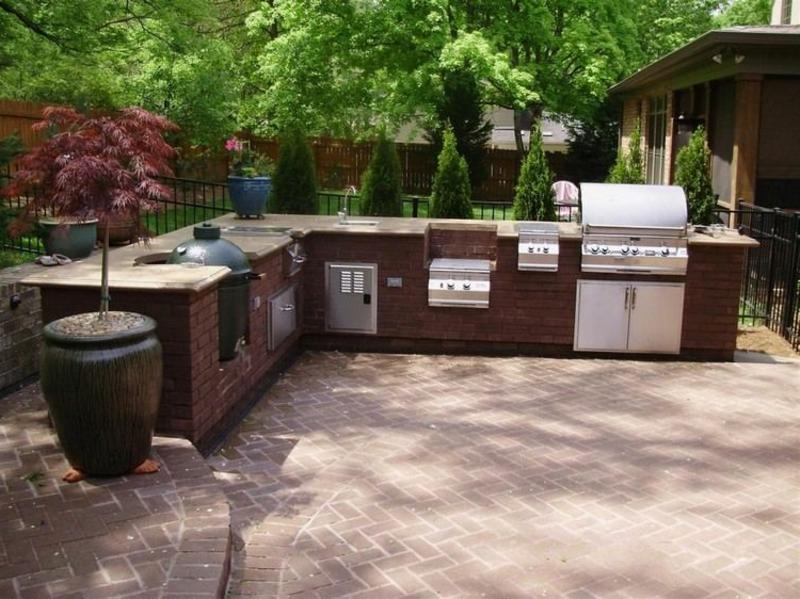 moderne Gestaltungsideen Außenküche