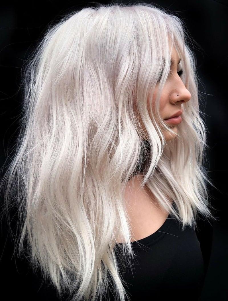 platinblonde Haare