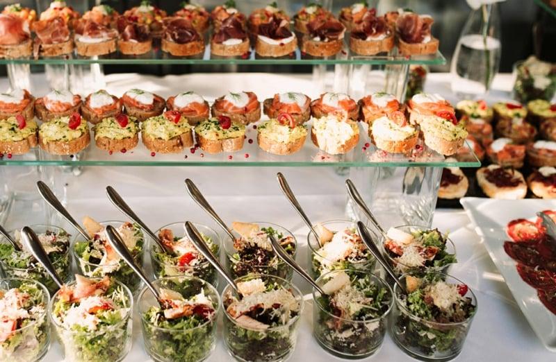 Hochzeit Buffet Ideen Fingerfood anrichten