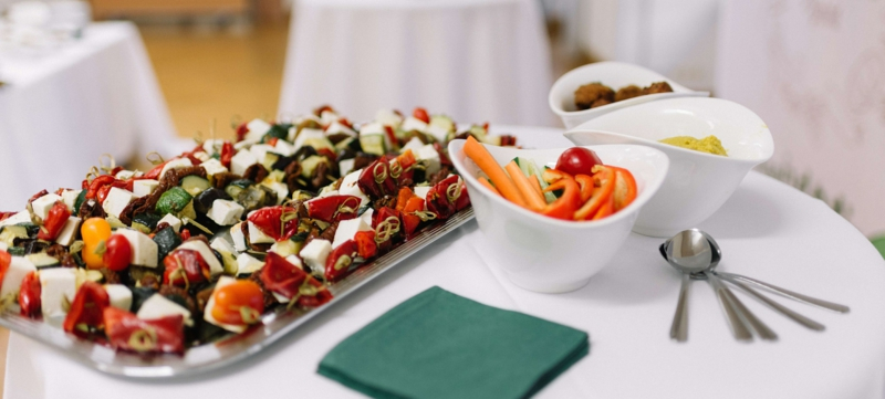 Hochzeit Buffet Ideen Häppchen mit Mozzarella