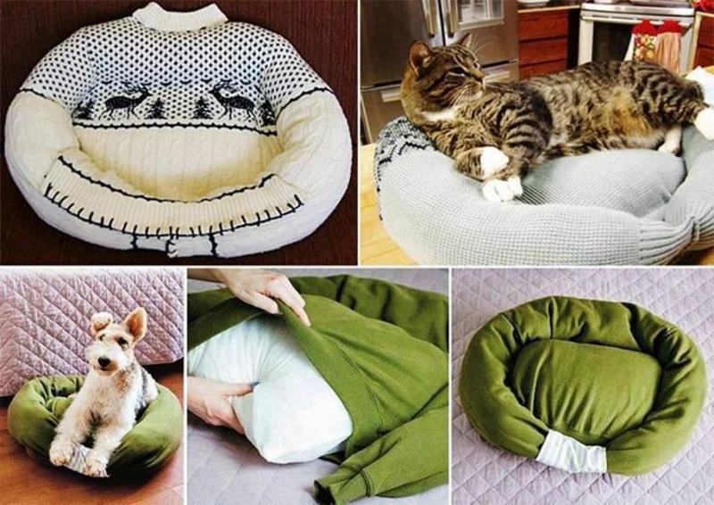 gemütliches Bett für Haustier selber machen