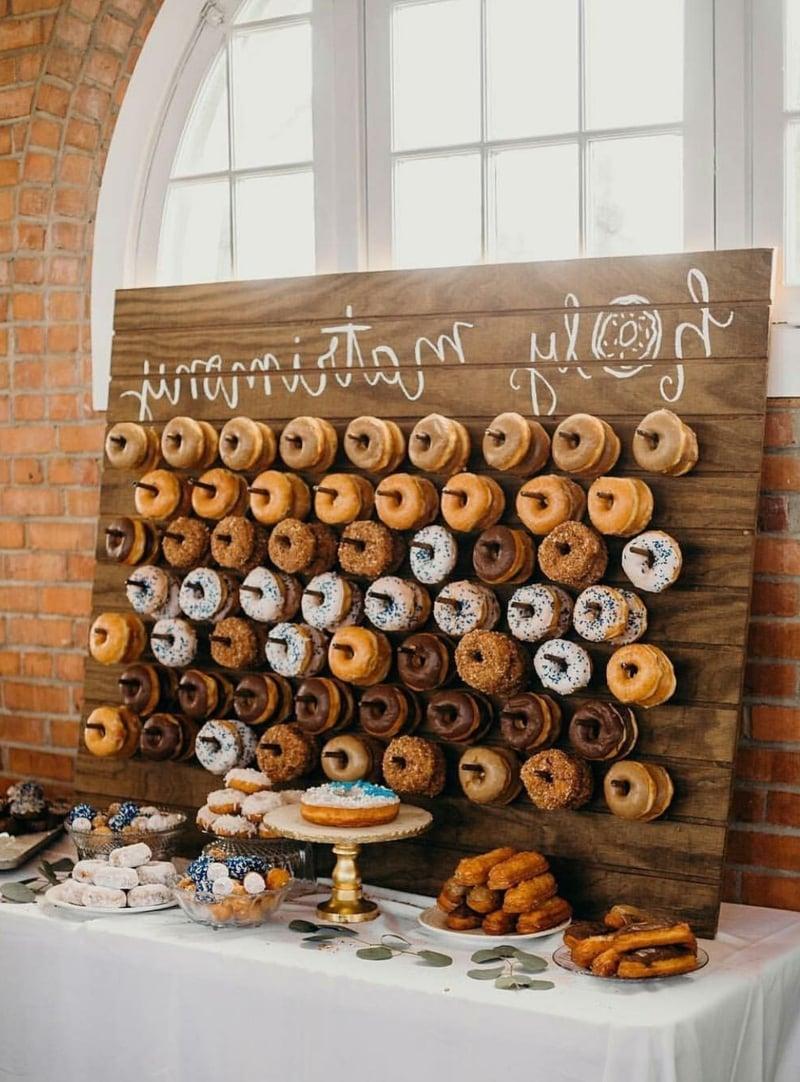 Hochzeitsessen Ideen Donuts