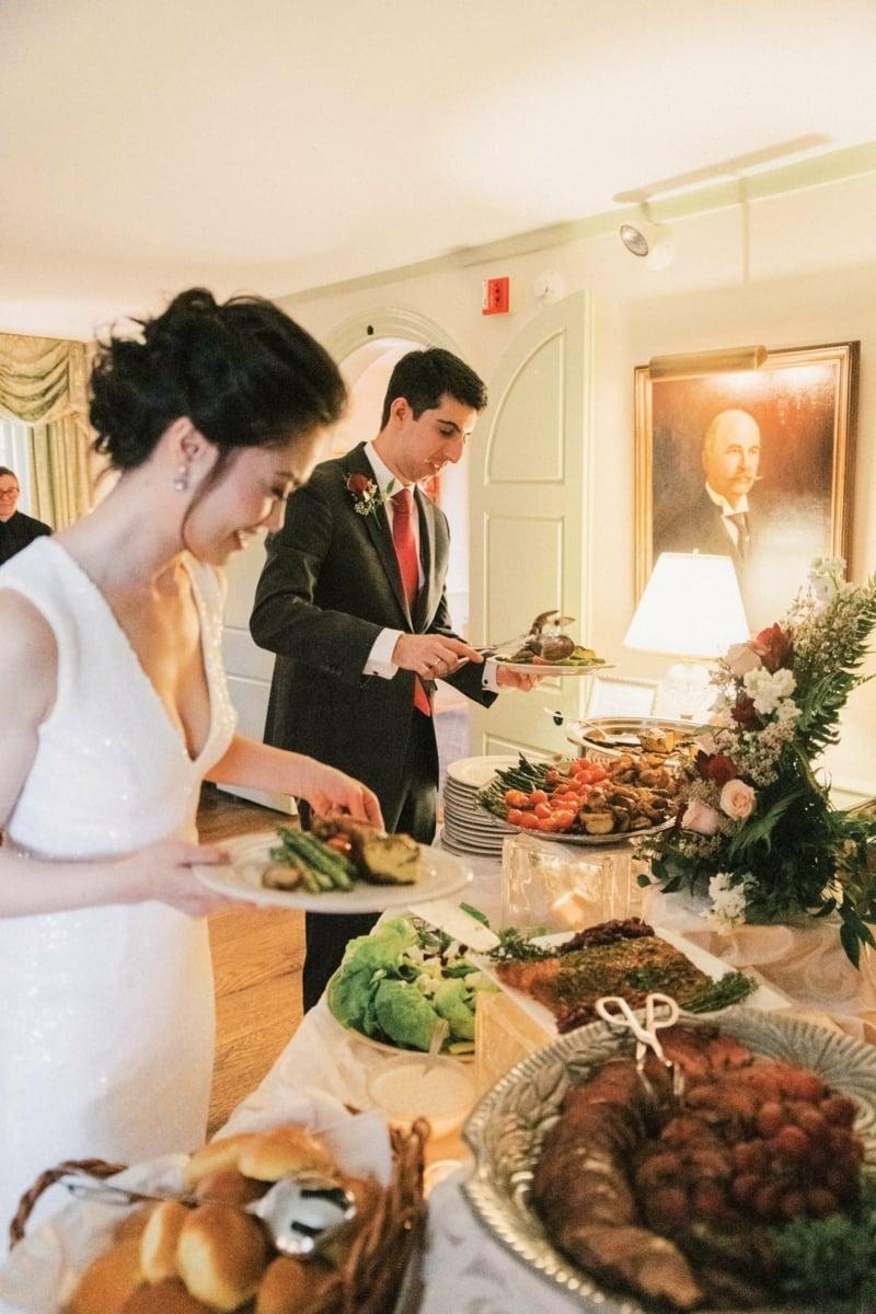 Hochzeit Buffet Ideen gesundes Menü
