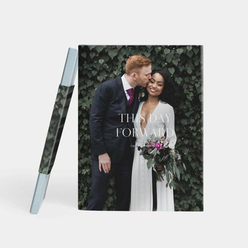 Titelseite Hochzeitsfotobuch