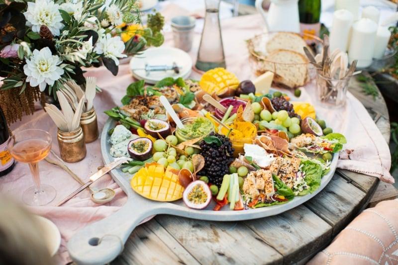 Hochzeit Buffet Ideen vielfältiges Essen