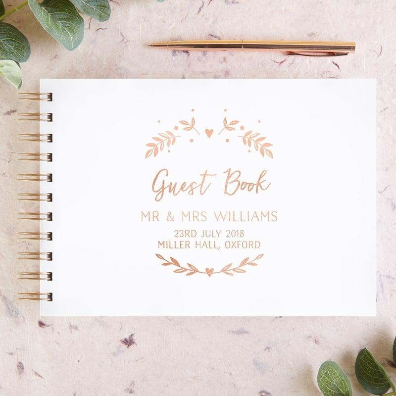 stilvolle Titelseite Gästebuch Hochzeit