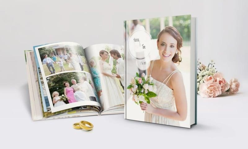Hochzeitsfotos Album wunderschöne Erinnerung