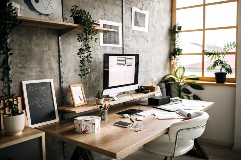 Arbeitszimmer Einrichtung Schreibtisch