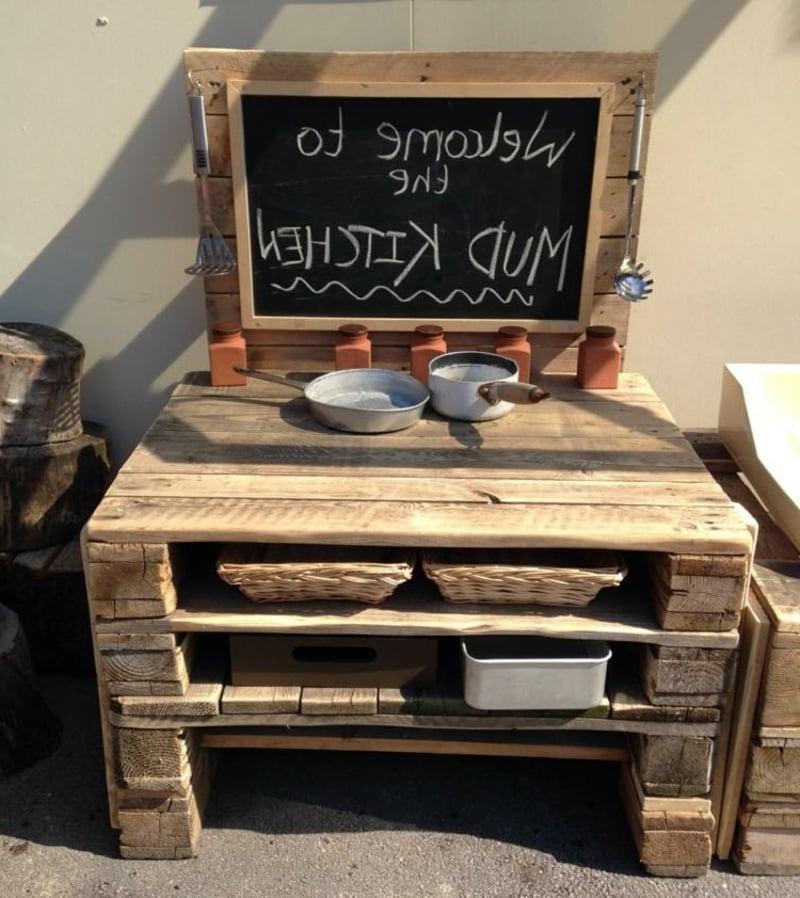 Kinderküche aus alten Paletten Bauanleitung