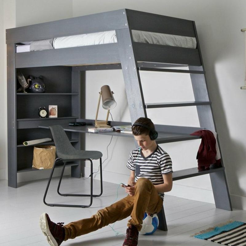 Hochbett mit Schreibtisch Kinderzimmer