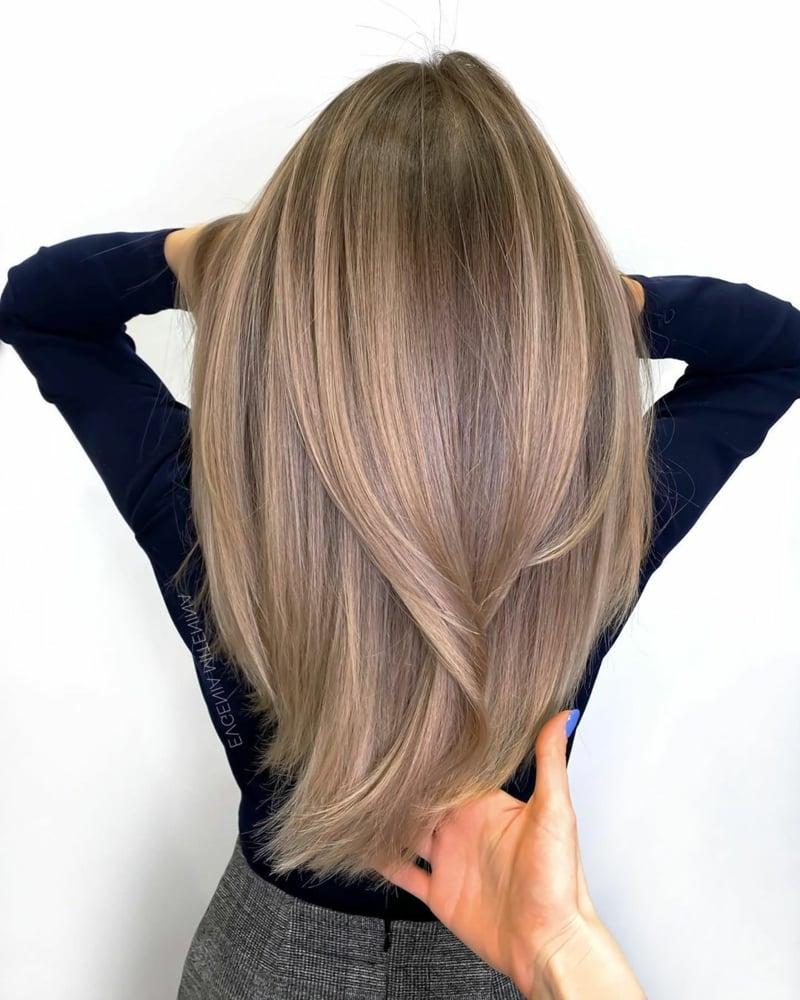 Stufen Frisur lang herrlicher Look