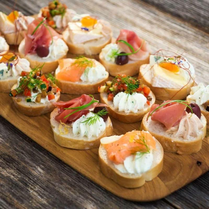 Hochzeit Buffet Ideen Mini Sandwiches