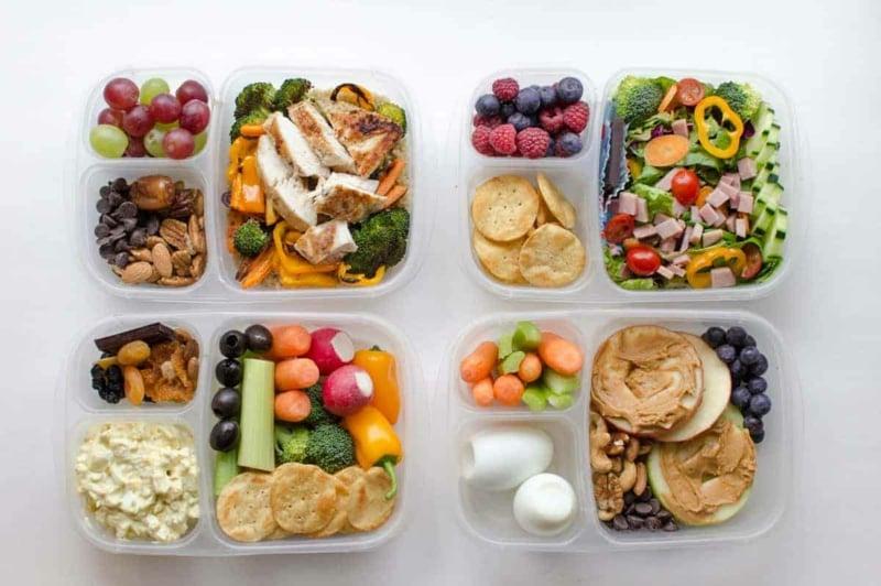 Lunchbox Ideen viel Obst und Gemüse