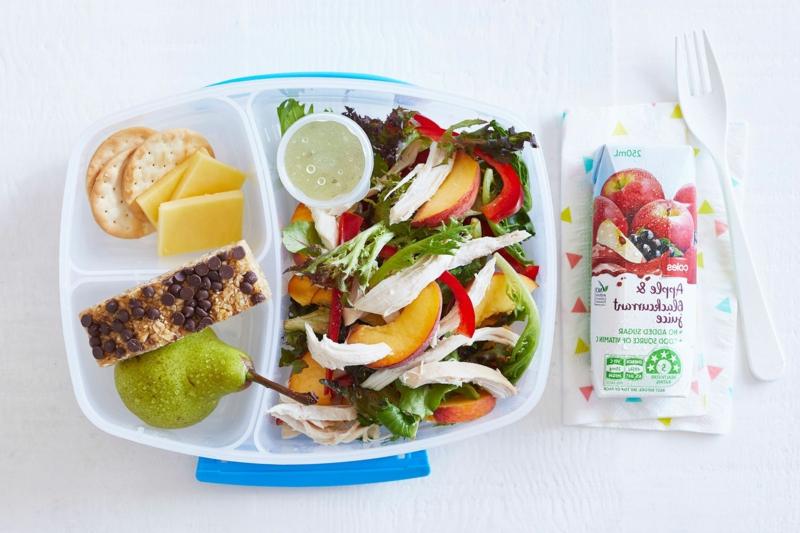 Lunchbox Ideen Salat mit Hähnchen