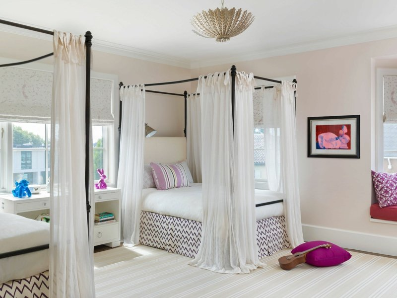 schöne Zimmer Ideen für Mädchen Himmelsbett