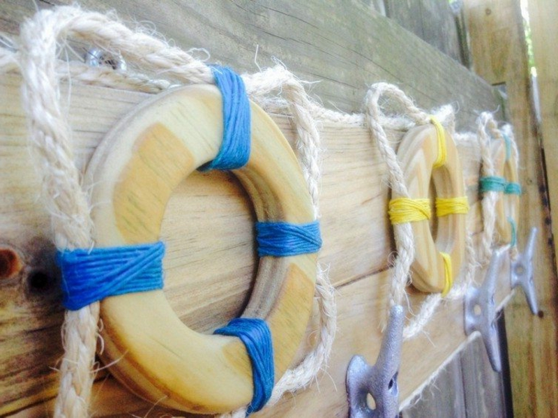 Gartendeko maritim Naturmaterialien