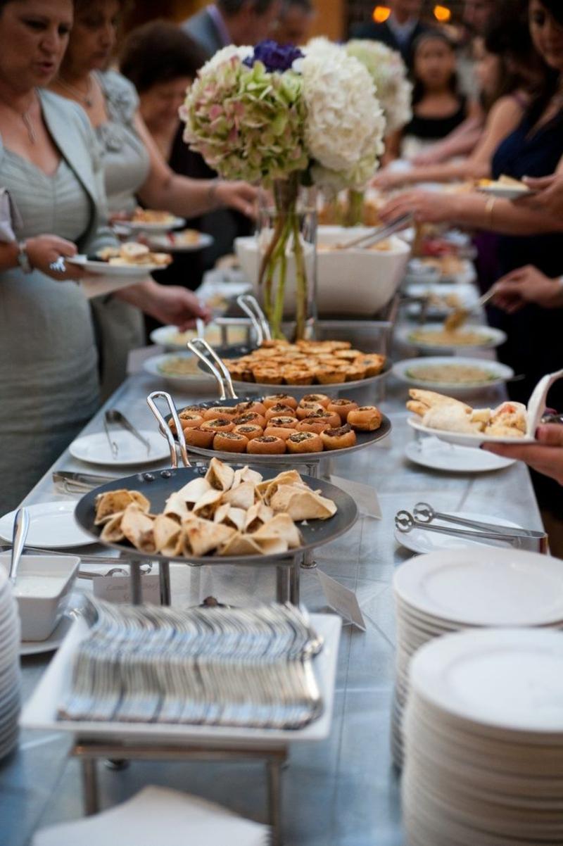 Hochzeit Buffet Ideen lecker praktisch