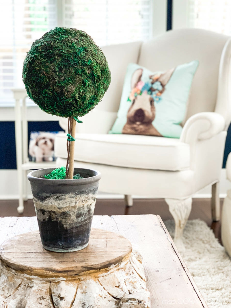 umweltfreundliche Deko Moos-Baum Wohnzimmer