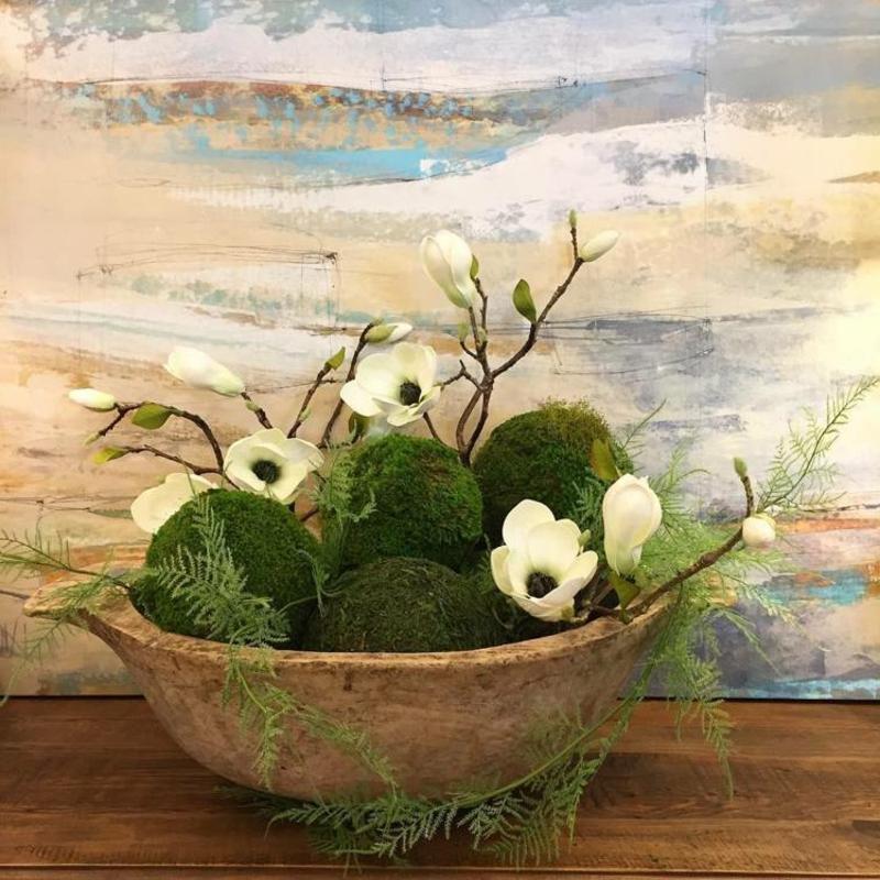 Mooskugeln mit Blumen tolle natürliche Deko