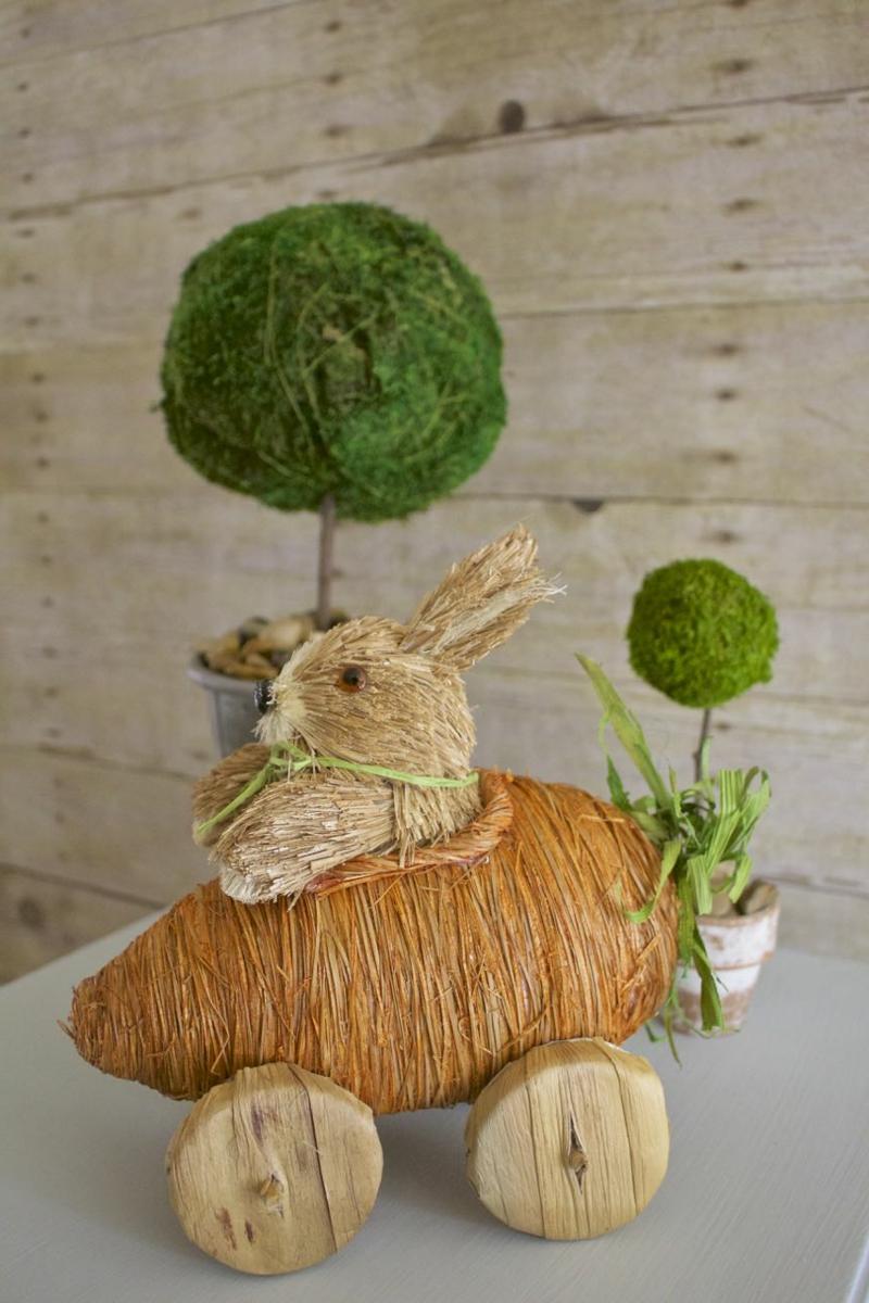 umweltfreundliche Deko zu Ostern Mooskugeln